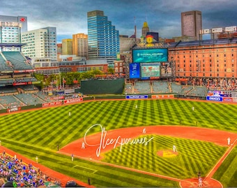 Orioles Stadium 5x7  matted on white  mat #1564