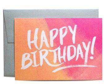 Happy Birthday Painter Greeting Card