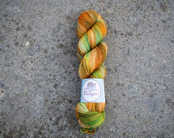 Ultimate Sock - Hand dyed Yarn - 75/25 Merino SW/Nylon - Fingering Weight 4ply - 100 grams - 425m/465yards - Calendula