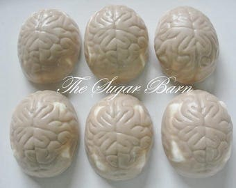 BRAIN CHOCOLATE Covered MARSHMALLOW*10 Count*Doctor Gift*Neurologist*Mad Scientist*Halloween Candy*Brain Doctor*Neurosurgeon*Brain Candy