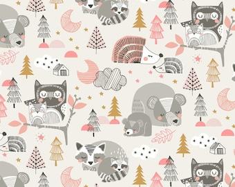 COTTON FABRIC Sweet Dreams Sleepyheads Pink - Blend Fabrics 100% premium cotton