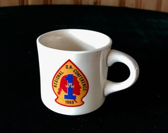 Boy Scouts of America Commemorative Mug, 1969 Order of the Arrow Conference