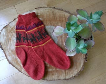 Real Peruvian Alpaca Wool Cozy Socks