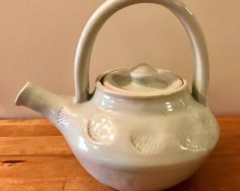 Porcelain Sea Shell Teapot
