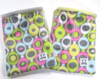 """Small snuggle sack - pouch - with boning - rat - guinea pig - sugar glider - pastel colors print - 8"""" x 10""""  - READY TO SHIP"""