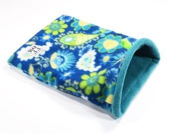 """Small snuggle sack - pouch - with boning - rat - guinea pig - sugar glider - paisley - 8"""" x 10""""  - READY TO SHIP"""