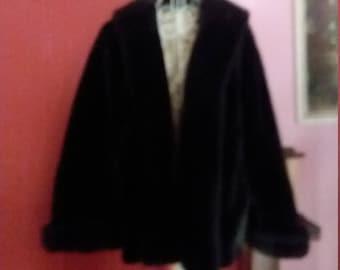 Small Short Faux Mouton Jacket