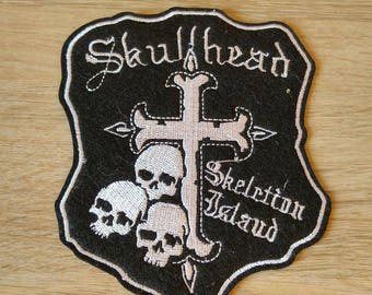 """Pattern """"Skullhead"""" embroidered Patch applique"""