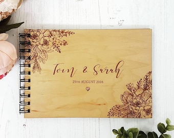 Peony Floral Wedding Guestbook