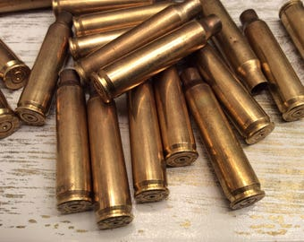 223 Caliber Brass Bullet Casings ( Lot of 20 ) Spent Ammo Steampunk Jewelry Supply