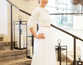 Wedding Tulle Skirt, Tulle Maxi Skirt, Bridal Tulle Skirt, Wedding Skirt, Bridal Dress, Tutu Skirt, Lace Wedding Dress, Wedding Separates