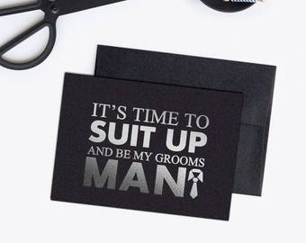 Will you be my groomsman card - Groomsman card - Groomsman proposal - WC003