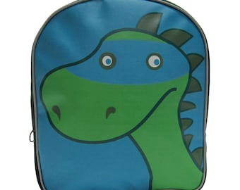 Kids Dino Backpack by Little Packrats, Gift for Dinosaur Lover, School Size Super Dino Nylon Backpack