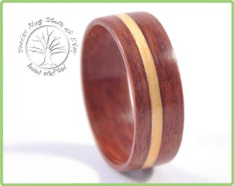 Men gift ring, can be a gift for boyfriend, ring for husband. This is men natural jewelry - ring made of Australian jarrah and huon pine.