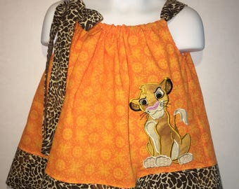 Lion King Simba Safari Animal Kingdom Girl Pillowcase Pillow Case Girl Boutique Summer Sun Dress! Birthday Party Lion Guard