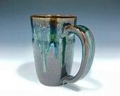 Metallic Green Blue Amber Mug (Medium - 14 oz.) - Reserved for Scott