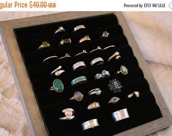 ON SALE Beautiful Dresser Top Ring or Cufflink Holder, 64 Ring Velvet Ring Holder, Cufflink Holder, Ring Holder and Organizer,