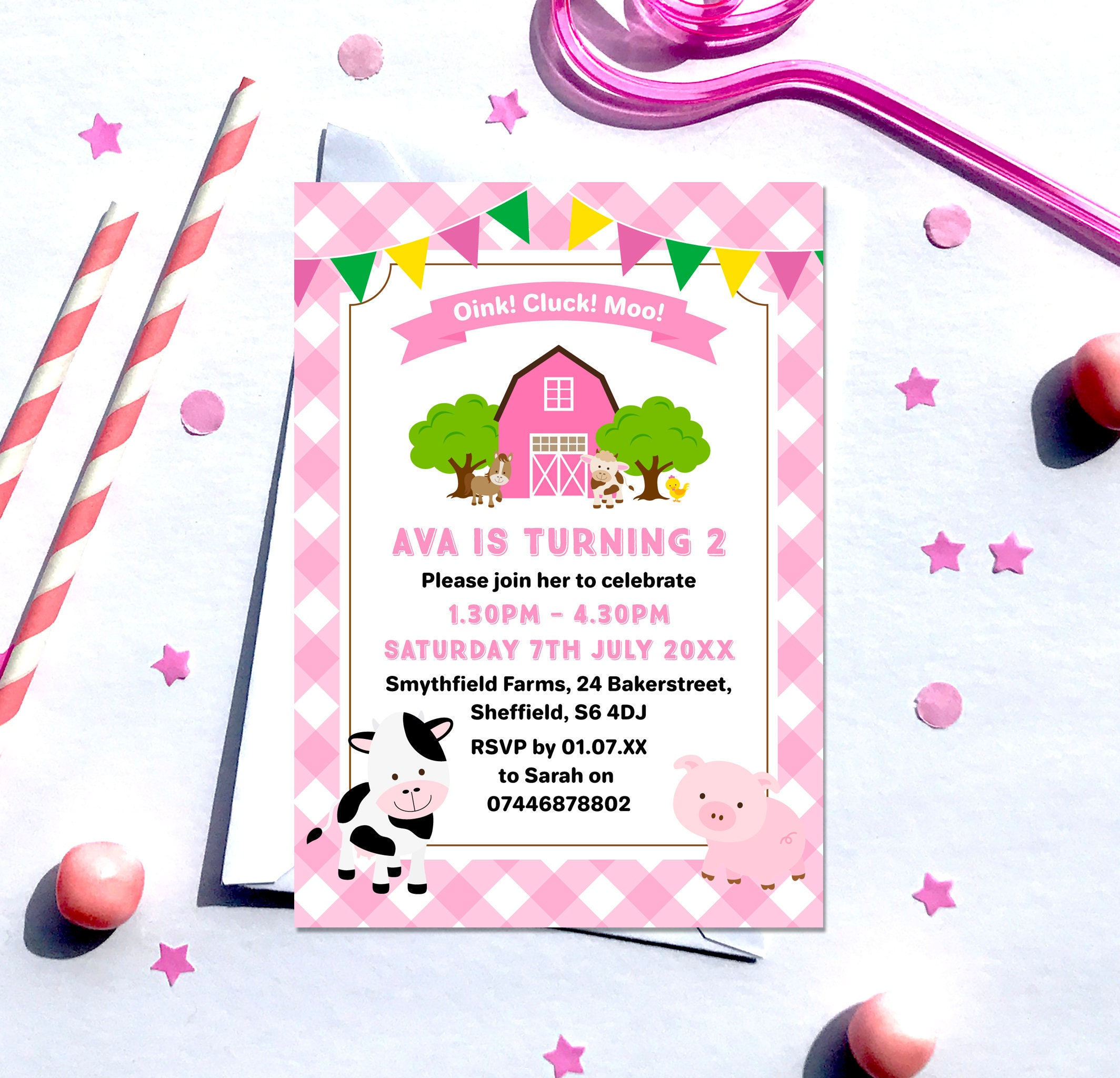 Farm Birthday Invitation, Digital File, PDF, DIY, farming invitation ...
