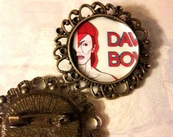 David Bowie brooch pin