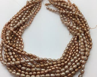 Champagne Colored Rice Pearls