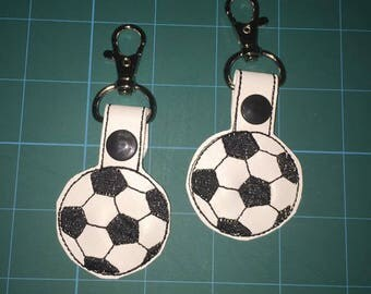 Soccer key chain/snap tab/key fob