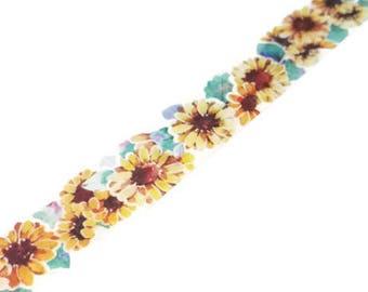 WASHI SAMPLE sunflower watercolor flower washi