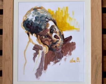 Xavier, a portrait in acrylic
