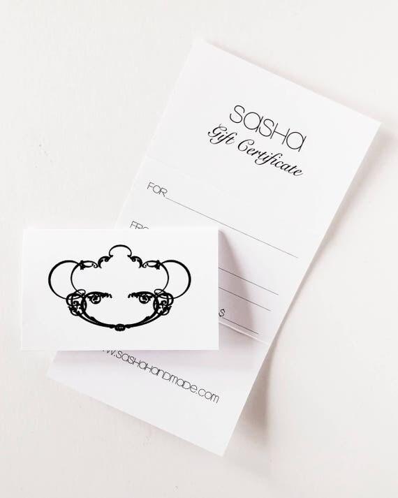 Sasha Gift Certificate