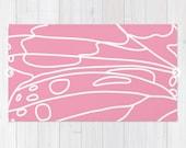 Pink Area Rug - Butterfly Wing Rug - Modern Decor -  ModernRug - Pink Nursery Rug - Aldari Home