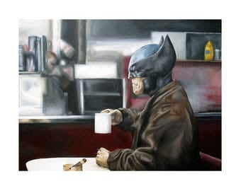 Wolverine Needs Coffee - Superhero Wolverine X-Men X-Force Art Print