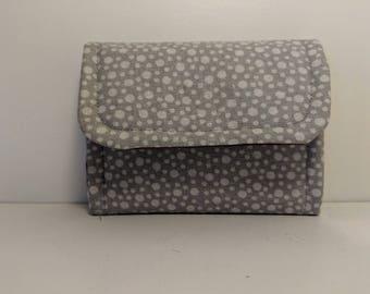 Gray tri-fold wallet