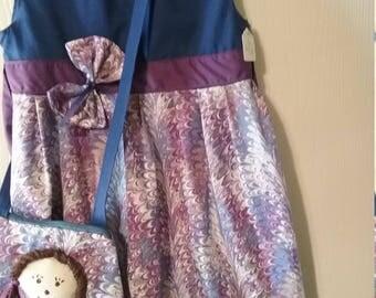 Girl's clothing set, sleeveless dress with matching shoulder bag, Church dress by Mvious Da'Zigns