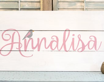 Kids Name Sign - Nursery Decor - Name Sign - Kids Room Decor - Baby Name Sign - Personalized Sign - Custom Name Sign - Baby Shower Gift