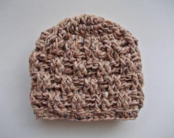 Crochet baby hat Wool baby hat Basket weave hat Baby boy hat Newborn boy beanie Baby boy outfit Newborn boy hat Winter baby boy hat