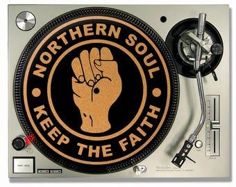Turntable Slipmat - Northern Soul Cork turntable mat - DJ Slip mat
