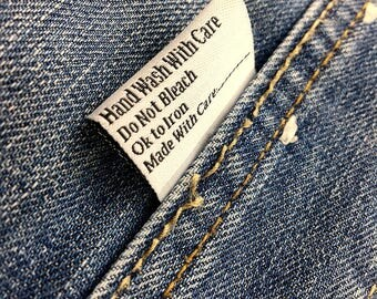 600 Woven labels, Custom woven tag, Garment woven label, Clothing tags, Fabric tag, Personalized tag