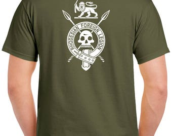 Rhodesian Foreign Legion T-Shirt - 2 Sided Tee - Light Infantry - RLI - 0710-2