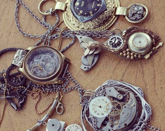 Steampunk necklace-  your pick!