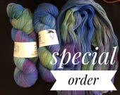 Hand dyed yarn // Blackbeard - 100gm //Lady Luck 005