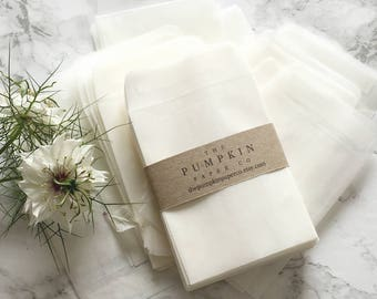 "100 Seed Envelopes Glassine Bags Glassine Envelopes Wedding Favor Envelopes Seed Packets Coin Envelopes 3.5/8x2.5/8"" 90x68mm approx"