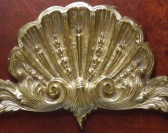 Solid Brass Ornate Decorative Pediment!