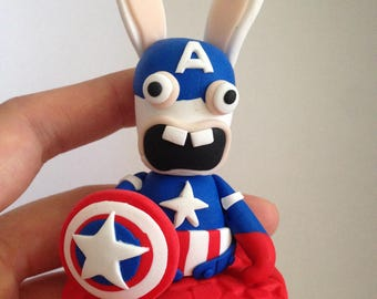 Bunny ass Captain America Avengers Polymer Clay figurine