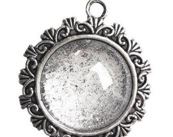 Round cabochon 20 mm inside pendant
