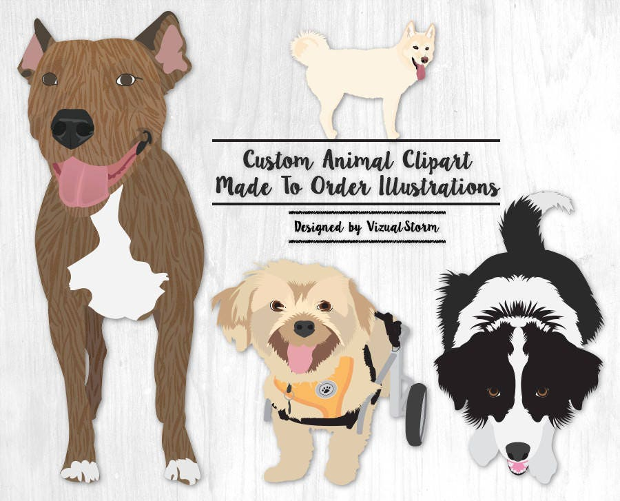 Dog Clipart Popular Dogs Breeds French Bulldog Labrador Dachsd ...