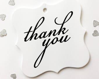 Thank You Wedding Favor Tags, Custom Wedding Tags, Custom Wedding Hang Tags  (FS-146)