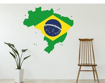 20% OFF Summer Sale Brazil wall decal sticker, deco, mural, vinyl wall art