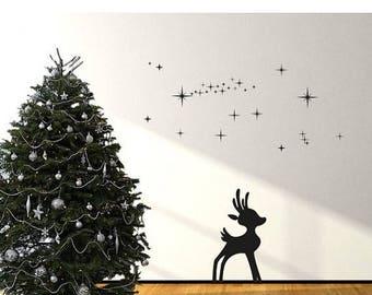 20% OFF Summer Sale Reindeer II Christmas wall decal, sticker, mural, vinyl wall art
