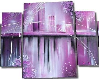 TABLE figurative abstract purple