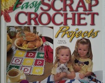 101 Easy Scrap Crochet Projects Instruction Hardback Book