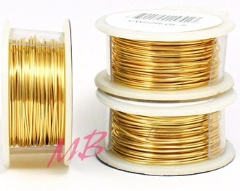 22g Gold Plated Tarnish Resistant Craft Wire, Gold Color Arts And Crafts Wire